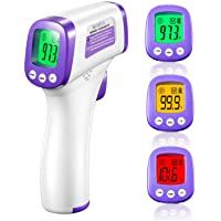 Infrared Thermometer For Adults Non Contact Forehead Thermometer With Fever Alarm Accurate Reading And Me Forehead Thermometer Infrared Thermometer Thermometer