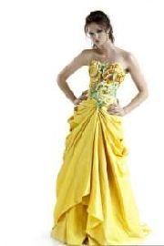 yellow ball gown prom dresses
