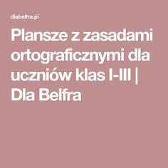 Plansze z zasadami ortograficznymi dla uczniów klas I-III | Dla Belfra