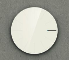 Obligatory Designer Clock by Saikat Biswas.     It doesn't have any hour and minute hands; instead, the hour markings dynamically change to show the time.    From 03:00 – 03:59, the 3rd marking slowly fills up by the minute. At 04:00, the 4th marking appears and fills up.