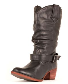 This boot is meeeeee! It will look great with skirts/dresses AND work well when I'm riding my bike.  Country Outfitter has more boots to look at than I have time for! :)