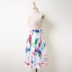 Fresh Watercolor Parrot & Floral Tie Dye Painting Prints Skirt Only $22.99 => Save up to 60% and Free Shipping => Order Now! #Skirt outfits #Skirt steak #Skirt pattern #Skirt diy #skater Skirt #midi Skirt #tulle Skirt #maxi Skirt #pencil Skirt