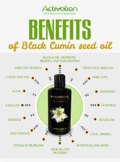 Who knew one oil could do all of this?! Black Cumin Seed Oil has been used for centuries as a natural health remedy #activationproducts #blackcuminoil