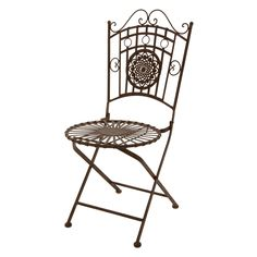 Shop Oriental Furniture  GF-CHAIR1 Wrought Iron Garden Chair at The Mine. Browse our outdoor dining chairs, all with free shipping and best price guaranteed.