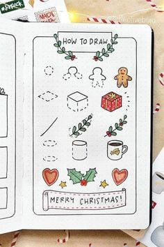 The count down to Christmas is on, which means that it is time to start planning your Christmas themed spreads! Christmas is the perfect time to add a little extra to your spreads, have fun, add some doodles. Click to read more. Bullet Journal Headers And Banners, Monthly Bullet Journal Layout, Bullet Journal Mood Tracker Ideas, Bullet Journal Printables, Bullet Journal Ideas Pages, Bullet Journal Inspiration, Simple Christmas, Merry Christmas, Bullet Journal Gifts