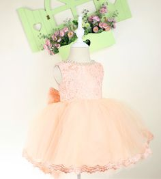 Baby Pageant Dress with Full Lace Top Infant Tutu por PLdress