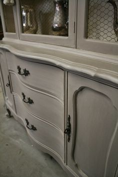 After Photo Wood China Cabinet Furniture Repair Refinish NJ | My Work    Furniture, Gifts And Home Decor Pieces I Designed Or Refinished | Pinterest  ...
