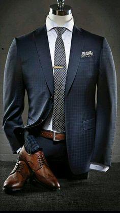 Outfit hombre #traje azul