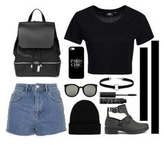 """Untitled #478"" by zirax ❤ liked on Polyvore featuring Melissa, Dr. Denim, Topshop, COSTUME NATIONAL, NLY Accessories, Karen Walker, Casetify, Miss Selfridge and NARS Cosmetics"