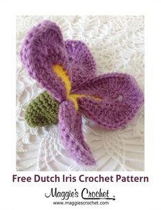 1089 best crochet images in 2019 crochet borders, crochet diagram Iris Flower Template Printable crochet iris flower tutorial dutch iris free crochet pattern from maggie\u0027s crochet