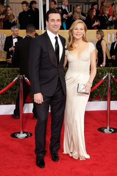 Jon Hamm and Jennifer Westfeldt Couple Up at the SAG Awards