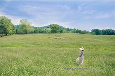field outdoor farm maternity flowy dress skirt hat