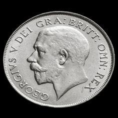 1924 George V Silver Shilling - Rare - EF