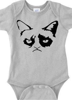 grumpy mad cat face funny baby onesie grump kitten face infant bodysuit t shirt clothes romper Boy Doll Clothes, Baby Clothes Quilt, Cute Baby Clothes, Grumpy Cat Shirt, Grumpy Baby, Funny Babies, Cute Babies, Baby Bodysuit, Baby Onesie
