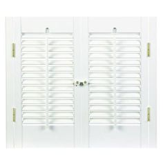 HomeBASICS Traditional Real Wood Snow Interior Shutter (Price Varies By  Size)