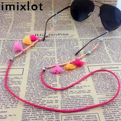IMIXLOT High Quality Vintage Colorful Bead Eyeglass Chain For Women Sunglasses Reading Glasses Cord Holder Neck Strap Rope Diy Glasses, Diy Schmuck, Hamsa, Beaded Jewelry, Cord Holder, Reading Glasses, Acrylic Beads, Affordable Fashion, Montage
