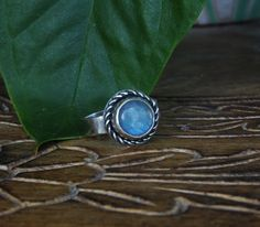Twisted detail natural labradorite Ring Handmade Sterling silver jewelry by NeshikotJewelry