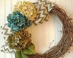 Spring Wreath Bird House Wreath Front Door by ChanceyCreations