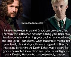 Parallels between Sirius and Draco can only go so far....