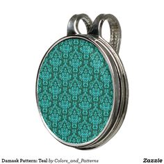 Damask Pattern: Teal Golf Hat Clip Stylish Hats, Golf Accessories, Golf Shoes, Golf Ball, Teal Blue, Damask, Golf Clubs, Markers, Pattern
