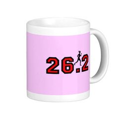 Womens marathon coffee mugs