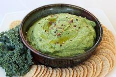 roasted garlic & kale hummus - gluten-free + vegan #nomnoms