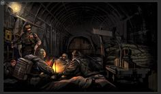 View an image titled 'Campfire Art' in our Metro 2033 art gallery featuring official character designs, concept art, and promo pictures. Metro 2033, Post Apocalypse, Tolkien, Post Apocalyptic Movies, Metro Last Light, Zombie Art, Game Concept Art, Hd Wallpaper, Wallpapers