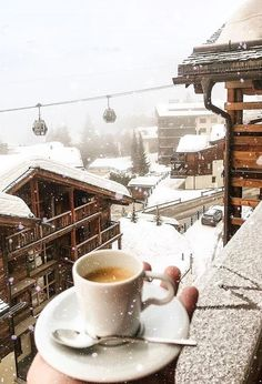 Coffee in the snow , Switzerland