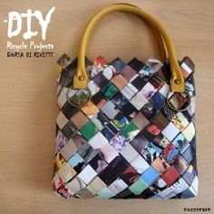 Recycles old magazines: MAKE A BAG! DIY projects+video tutorials! (in Italian)