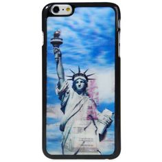Stylish PC Material Back Case Cover with 3D Vary Picture Design  -  Statue of Liberty and Street Pattern #men, #hats, #watches, #belts, #fashion, #style