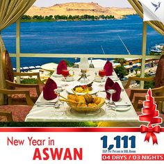 Enjoy The #New_Year Gala Dinner At HELNAN #Aswan  4 Days 3 Nights Based On Bed and Breakfast with Nile View  Rates:- ★ 1666 EGP / Person in SGL Room ★ 1111 EGP / Person in DBL Room ★ 1001 EGP / Person in TPL Room  For More Information ★ 01000-925-827  ★ admin@alawaltours.com  To get the offer details send your email in a private message. Just with #Alawal #Travel and #Tourism
