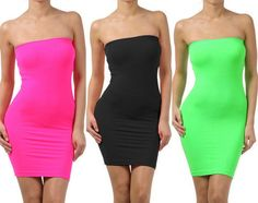 great find! body con dress #neon