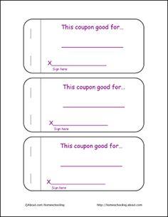 kids coupon book template