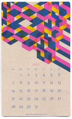 Paper Pusher Printworks: 2013 Risograph Calendar – I've already bought far too many 2013 calendars—not sure where I'm hanging them all!— but Ihave to say I'm loving this vibrant Risograph Calendar by Paper Pusher Printworks.