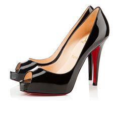 9c1556b7f18 Very Prive 120 Black Patent Leather - Women Shoes - Christian Louboutin