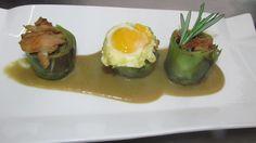 Alcachofas con setas y huevo de codorniz en #Saboreatrip de Saborea España
