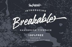 DLOLLEYS HELP: Breakable Free Font