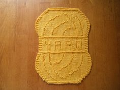 Yarn Cloth, free knit pattern by Theresa L. Jones. Many more novelty dishcloth designs from her on the Rav.