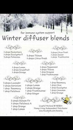 Winter Essential Oils Diffuser Blends ••• Buy dōTERRA essential oils online at www.mydoterra.com/suzysholar, or contact me suzy.sholar@gmail.com for more info.