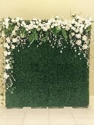 Flower Wall with Silk Flowers - 3.0m x 2.0m
