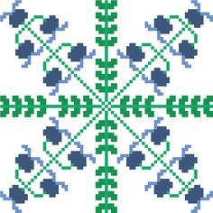 Contemporary cross stitch tile of spring bluebells by crossstitchtheline A beautiful traditional cross stitch pattern that will bring a fresh feel to any room!