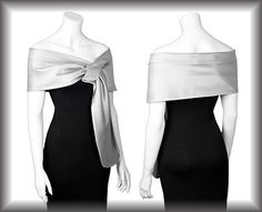 Duchess silver  pull thru wrap shawl by mycoverup on Etsy, £26.00
