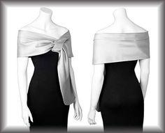 Duchess silver  pull thru wrap shawl by mycoverup on Etsy, £26.00