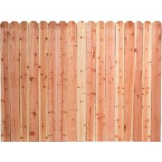 6'H x 8'W Stockade Natural Wood Fence Panel from Menards