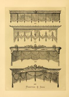 Illustrated designs of cabinet furniture engrav...