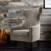 Found it at AllModern - Gramercy Embroidered Wing Chair