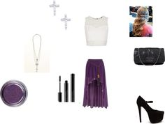 """""""Purple an White"""" by mindiblue2 ❤ liked on Polyvore"""