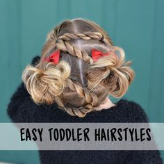 Majority of these hairstyles are all fairly easy and are good for starters, quick and simple toddler hair-styles. Easy Toddler Hairstyles, Kids Braided Hairstyles, Flower Girl Hairstyles, Modern Hairstyles, Little Girl Hairstyles, Cute Hairstyles, Girls Braids, Fall Hair, Short Hair Styles