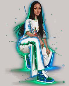 Fashion Illustration Collage, Fashion Illustration Dresses, Dress Design Sketches, Fashion Design Sketches, Fashion Model Sketch, Fashion Design For Kids, Black Girl Art, Image Hd, Mode Style