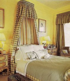 49 Inspiring Sunny Yellow Accents In Bedrooms Ideas : 49 Inspiring Sunny Yellow Accents In Bedrooms Ideas With Yellow Wall Curtain And Bed Pillow Blanket And Wooden Side Table And Desk Lamp Blue Yellow Bedrooms, Yellow Walls, Yellow Accents, Wooden Side Table, Modern Bedroom Design, Bedroom Bed, Mellow Yellow, Beautiful Bedrooms, Bedroom Colors